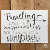 Traveling Quote | Hand Lettering | Home Decor | Wall Art ...