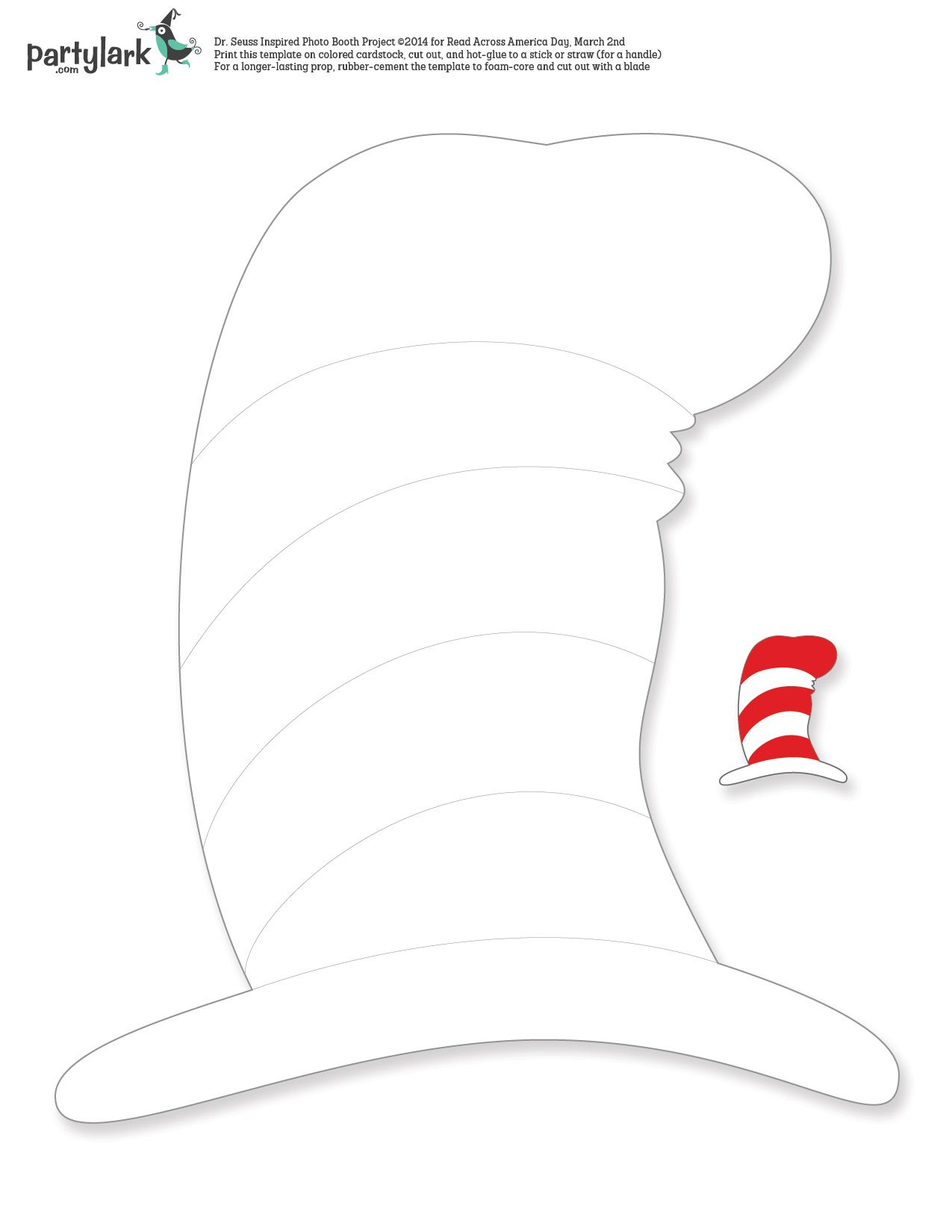 A Seussical twist on photo booth props! Just in time for
