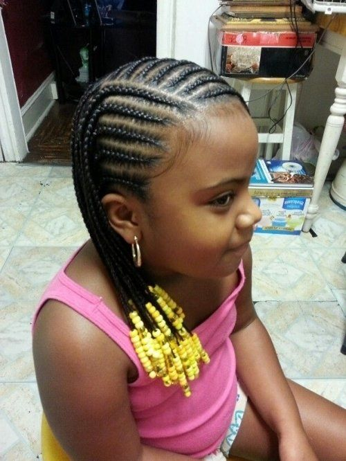 14 Lovely Braided Hairstyles For Kids Cornrow Little Girls And