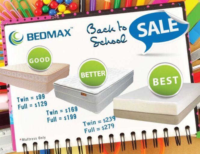 Bedmax Mattress Announces Back To School Onlineprnews Http Www