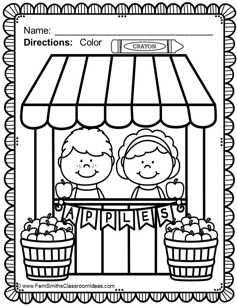 #FREE Apple Themed Coloring Page in the Free Download