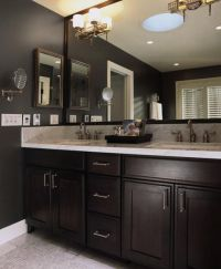bathrooms with dark cabinets