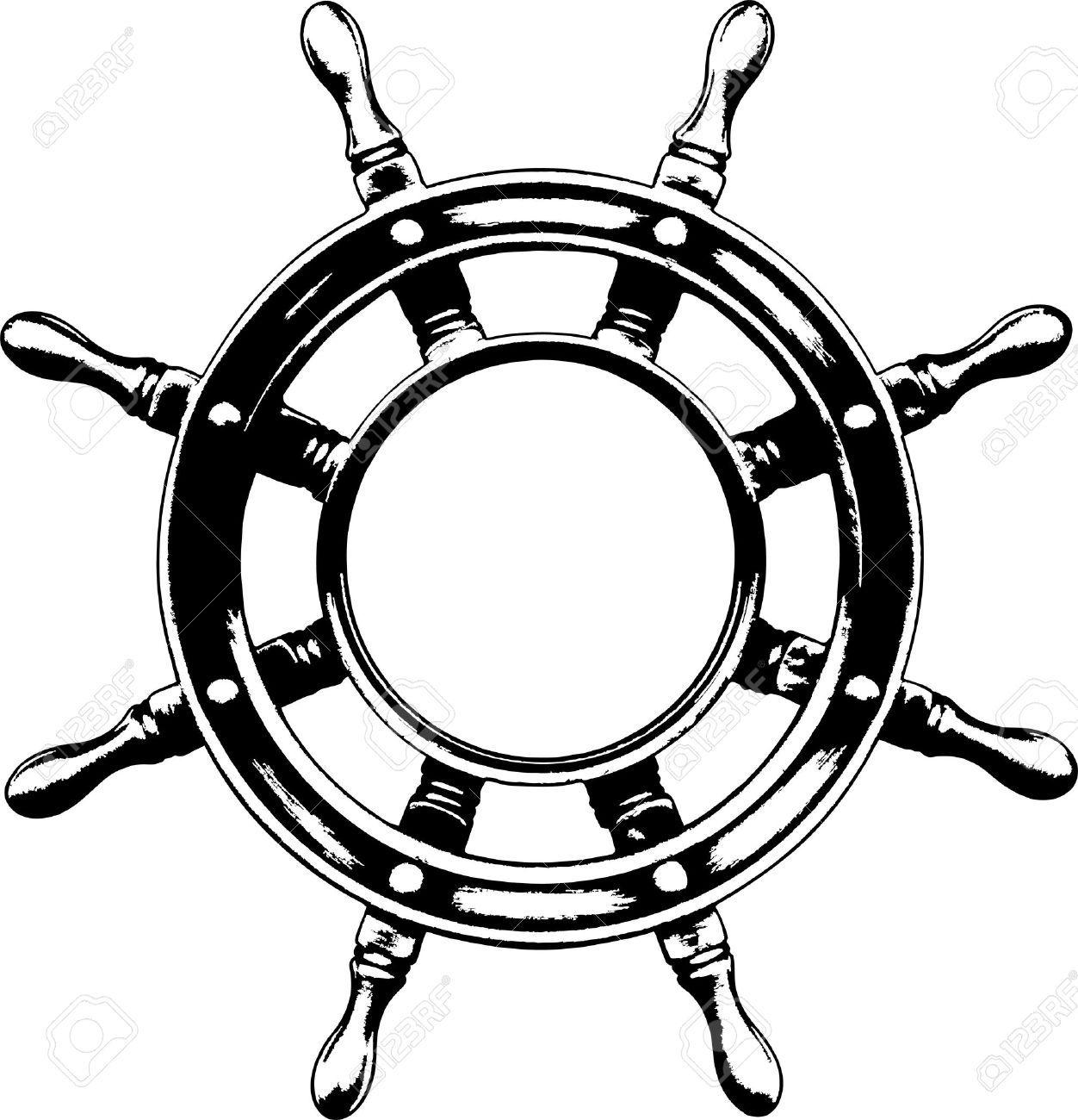 Ship Steering Wheel Royalty Free Cliparts Vectors And