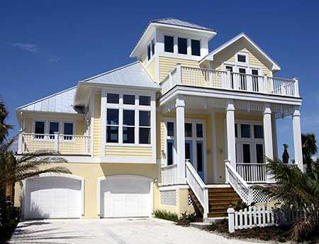 Plan 13128FL Classic Coastal House Plan Coastal House Plans