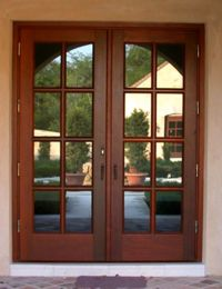 front doors for homes with glass | Wood French Doors ...