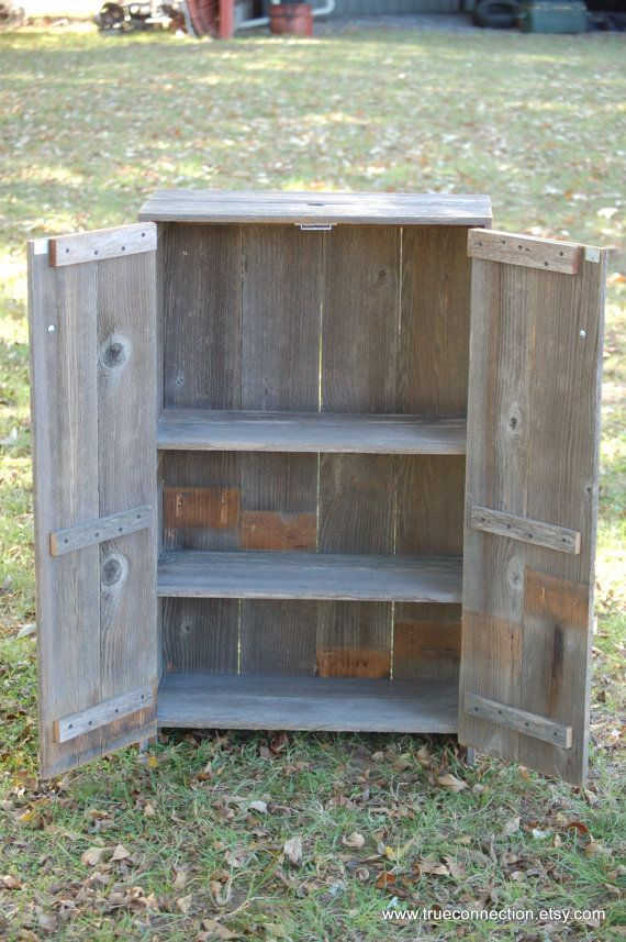 Liquor Cabinet Recycled Wood Cabinet. Whiskey Storage