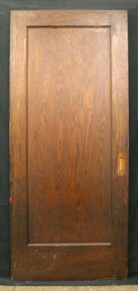 "36""x84"" Antique Interior Red Oak Wood Single Sliding ..."