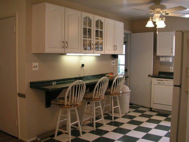 Wall Mounted Breakfast Bar Kitchen Pinterest