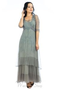 Victoria Vintage Style Party Gown in Smoke by Nataya ...