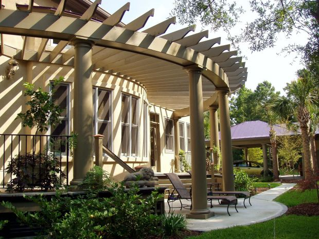 Pergola Designs with Columns - Curved Pergola Design Plans - Home Design Ideas
