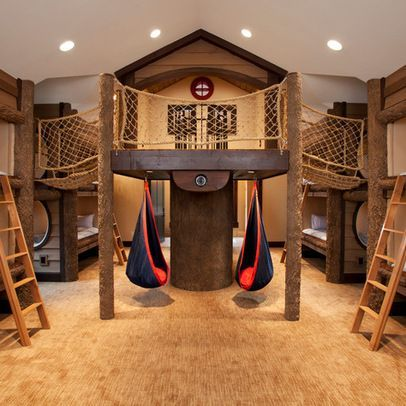 30 Beautiful Bunk Room Ideas For Kids Treehouse Room Ideas And