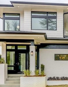Newly built prairie style residence is also called  sleek stylish and gorgeous rh za pinterest
