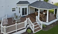Trex Deck with Hip Roof, and Grill bump out | Amazing ...