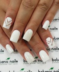 50 White Nail Art Ideas | White nail art, White nails and ...