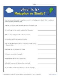 Which Is It? Metaphor or Simile? | Simile, Figurative and ...