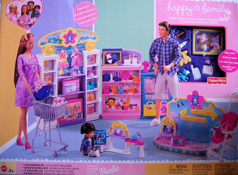 Amazon.com: Barbie Happy Family Baby Store Playset (2002