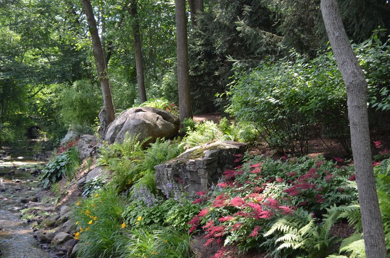Boulder And Stone Natural Shade Garden Ideas Allendale Nj Nj