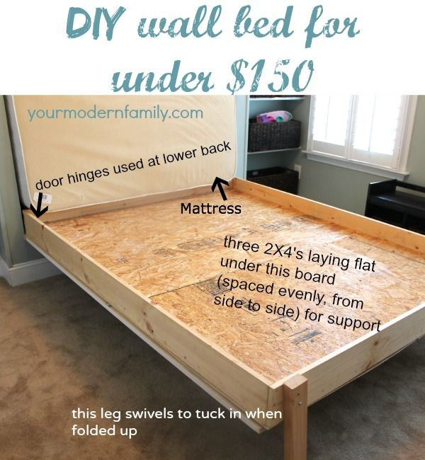 Diy Murphy Bed Wall For 150 Built By My Husband And Dad