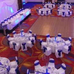 Banquet Hall Chair Covers Bedroom Reading Our Wedding Reception, Ottawa Marriott Hotel - Cobalt Blue And White | My Pinterest ...