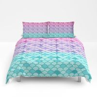 Mermaid Scales Comforter or Duvet Cover Set Twin, Full