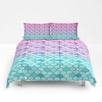 Mermaid Scales Comforter or Duvet Cover Set Twin, Full ...