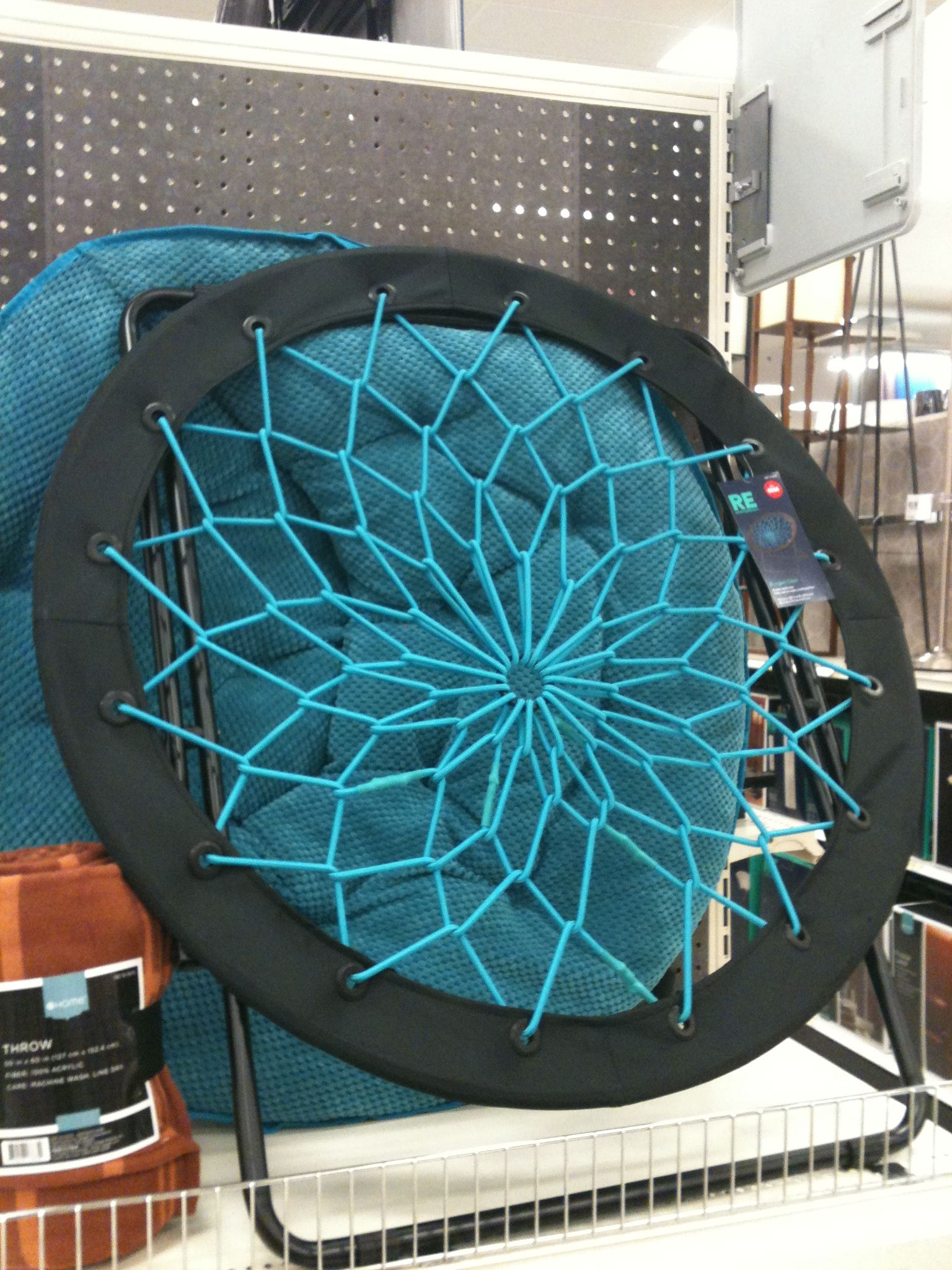 turquoise desk chair target hanging youtube cool chairs at round bungee in teal