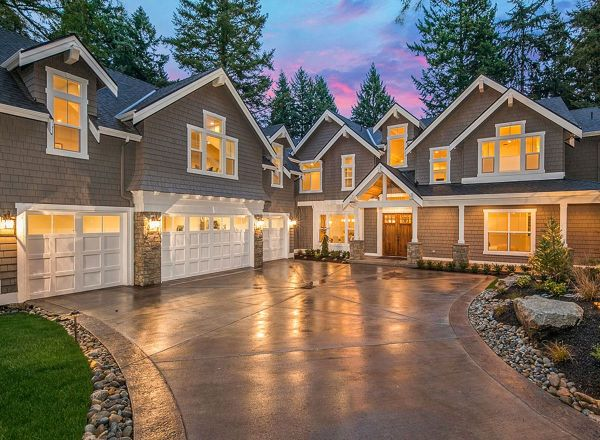 Craftsman Home Designs Driveway - Vtwctr on rustic driveway, modern driveway, bungalow driveway, traditional driveway, mediterranean driveway,