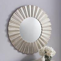 Cardew modern silver round mirror