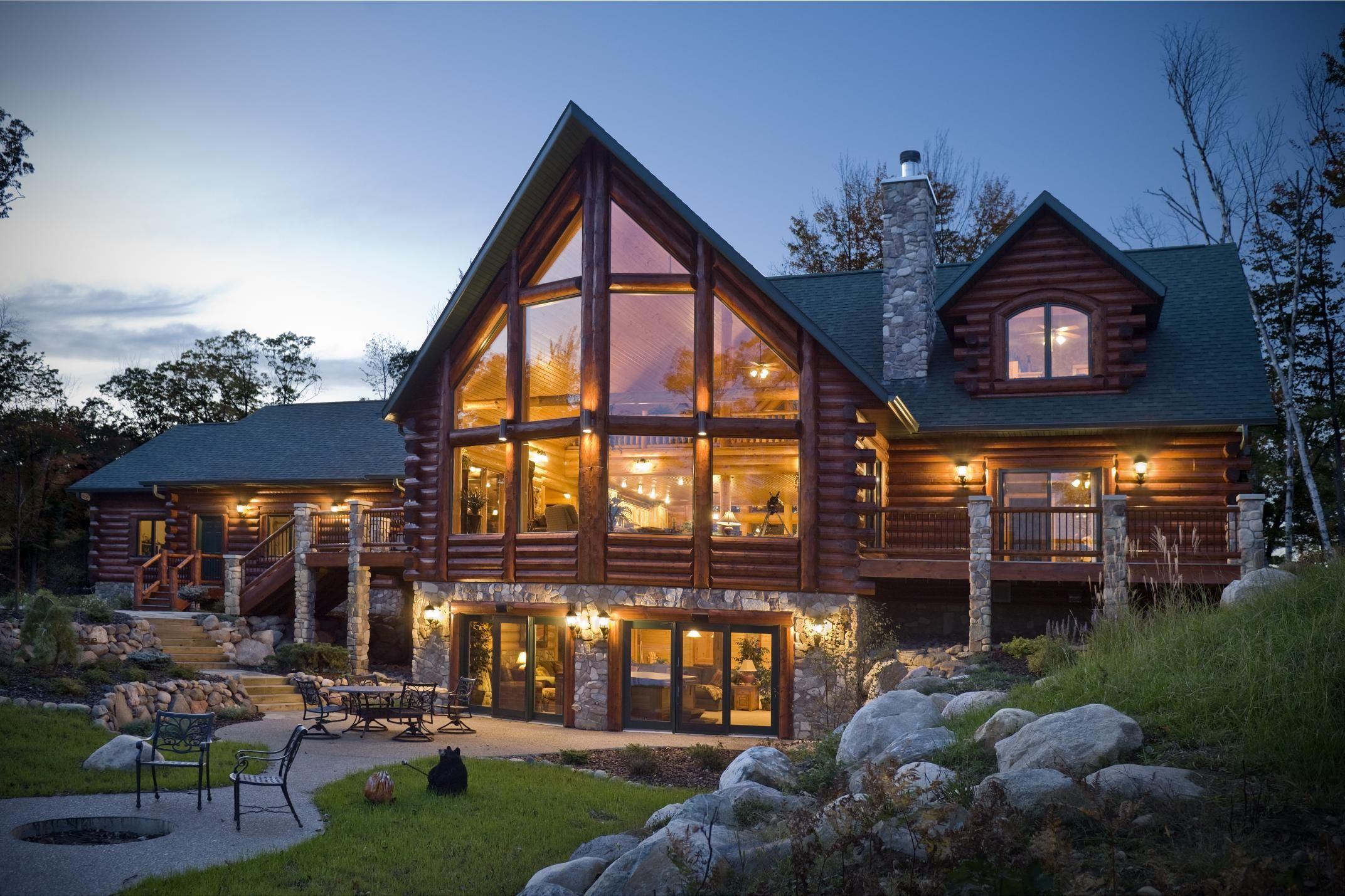 Living In A Log Home! Logs Golden Eagle And Exterior