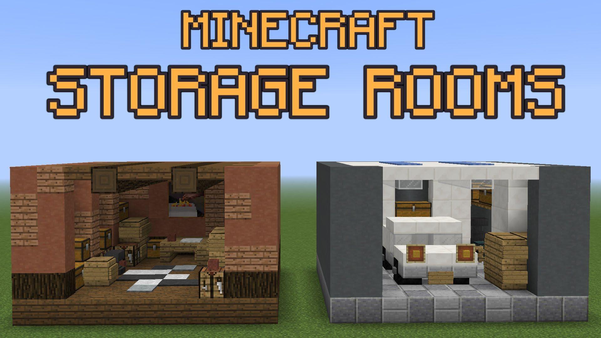 Minecraft Storage Room Ideas  Minecraft  Pinterest