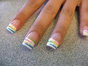 flared nail design