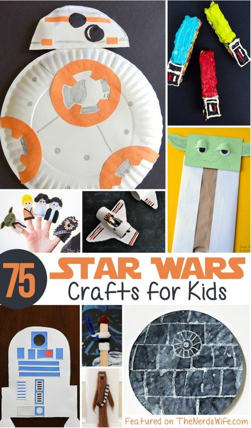 Star Wars Crafts for Kids  Star wars crafts Star and Craft