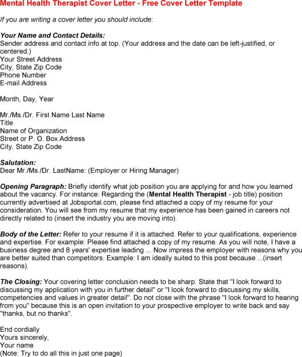 mental health counseling cover letter  Google Search  Mental Health  Pinterest  Career help