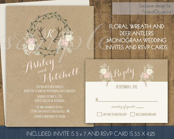 Country Wedding Invitation Kits