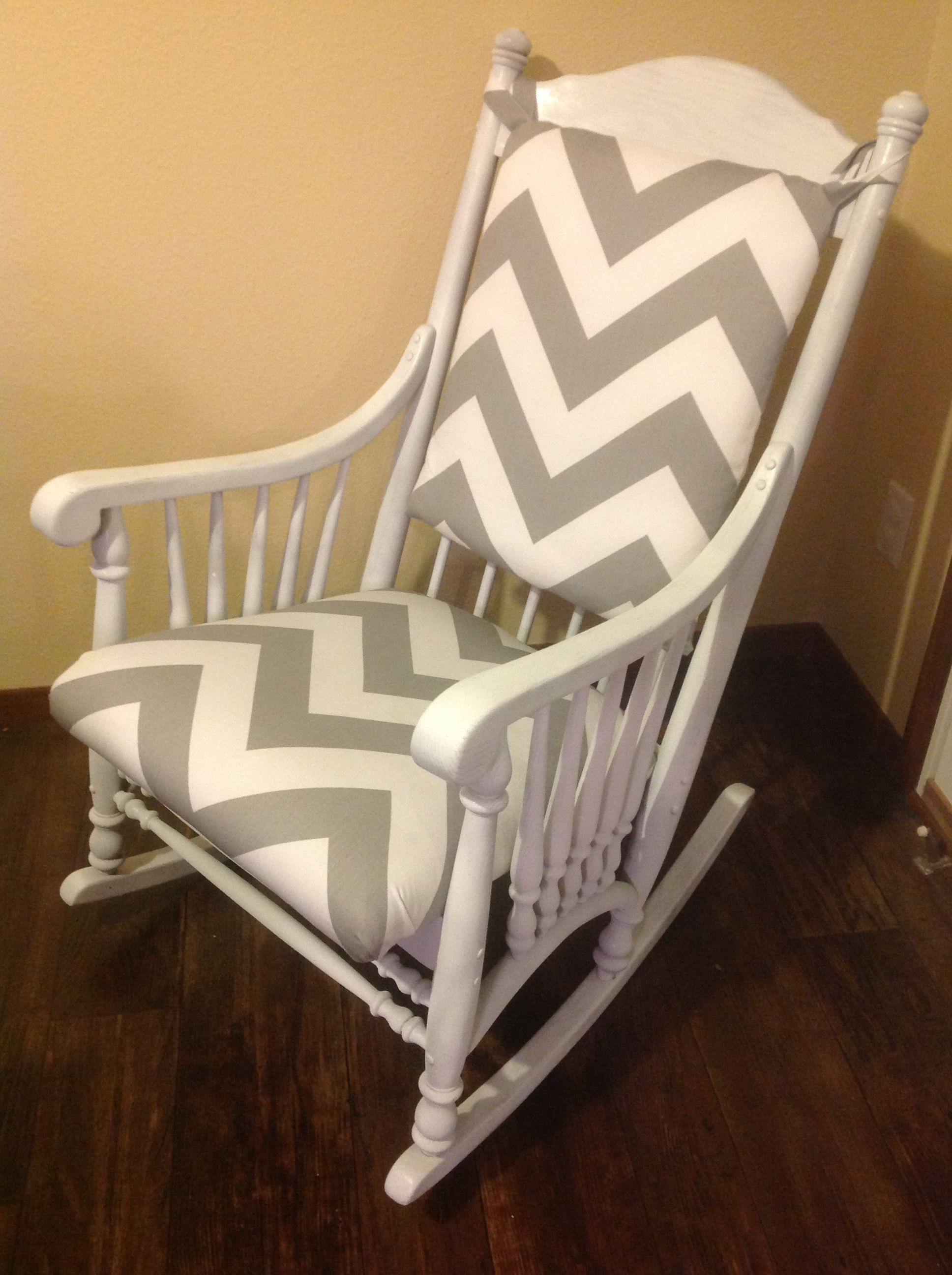 pink nursery rocking chair armchair tray table just refinished this cute with a white wash