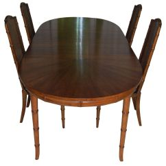 Bamboo Dining Chair Gravity Accessories Henredon Faux Set
