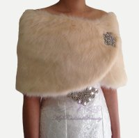 Faux Fur Wrap, Champagne Shawl, Bridal Fur Shawl, Faux Fur ...