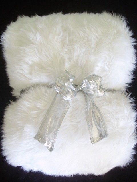 White Shag Faux Fur Throw Blanket Large  Liza  Pinterest