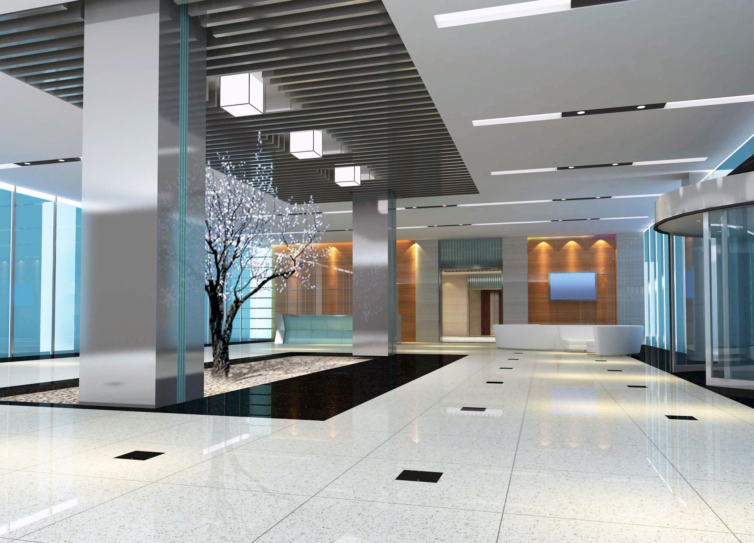 Awesome Office Entrance Interior Design