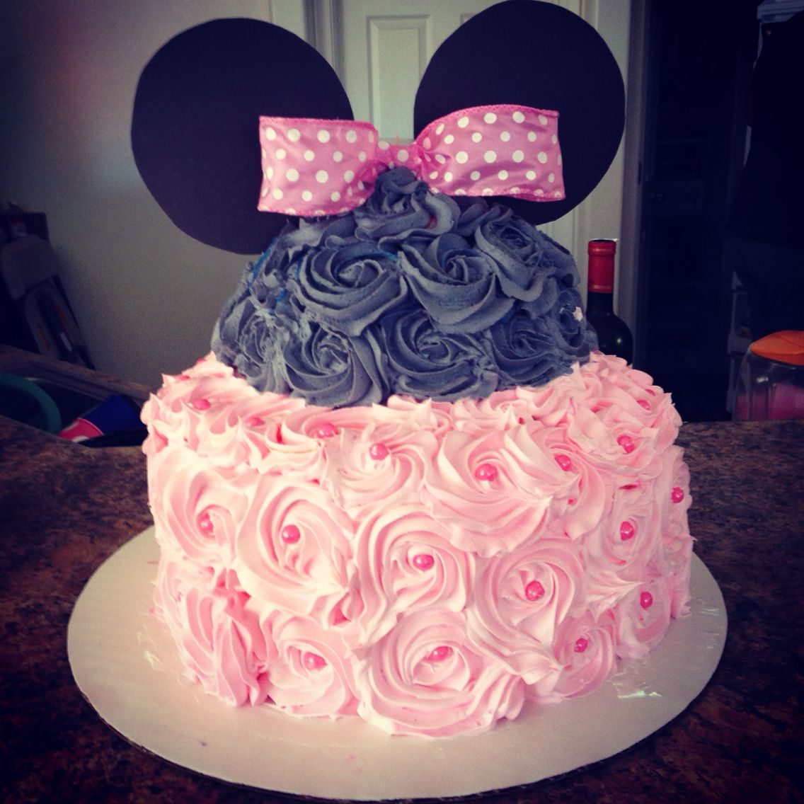 My Baby Shower Cake I Made Minnie Mouse 3 Tier Cake 2