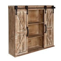 Kate and Laurel Cates Rustic Wood Wall Storage Cabinet ...