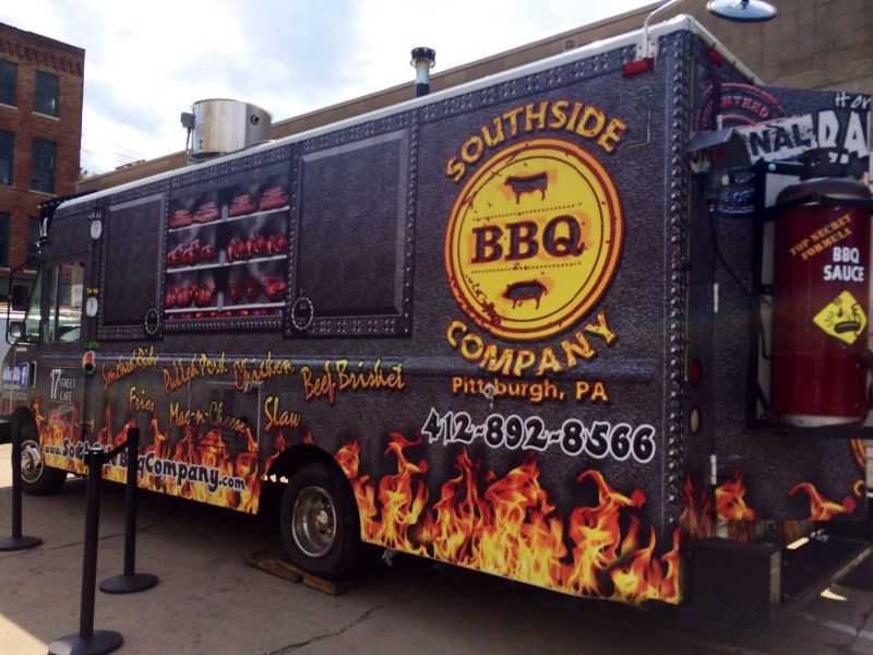 Bbq food truck pittsburgh pa for Flaming fish food truck