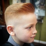 slick ginger haircut with quiff