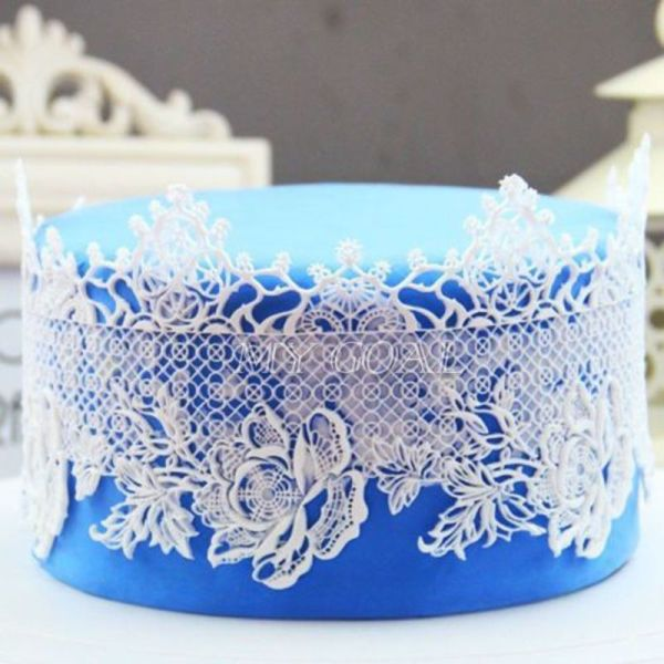 Flower Silicone Fondant Lace Mould Cake Decor Bake