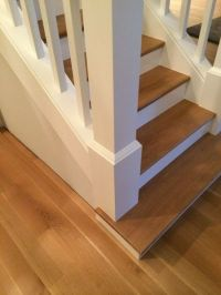 enclosed stair staircase - convert to open on one side ...