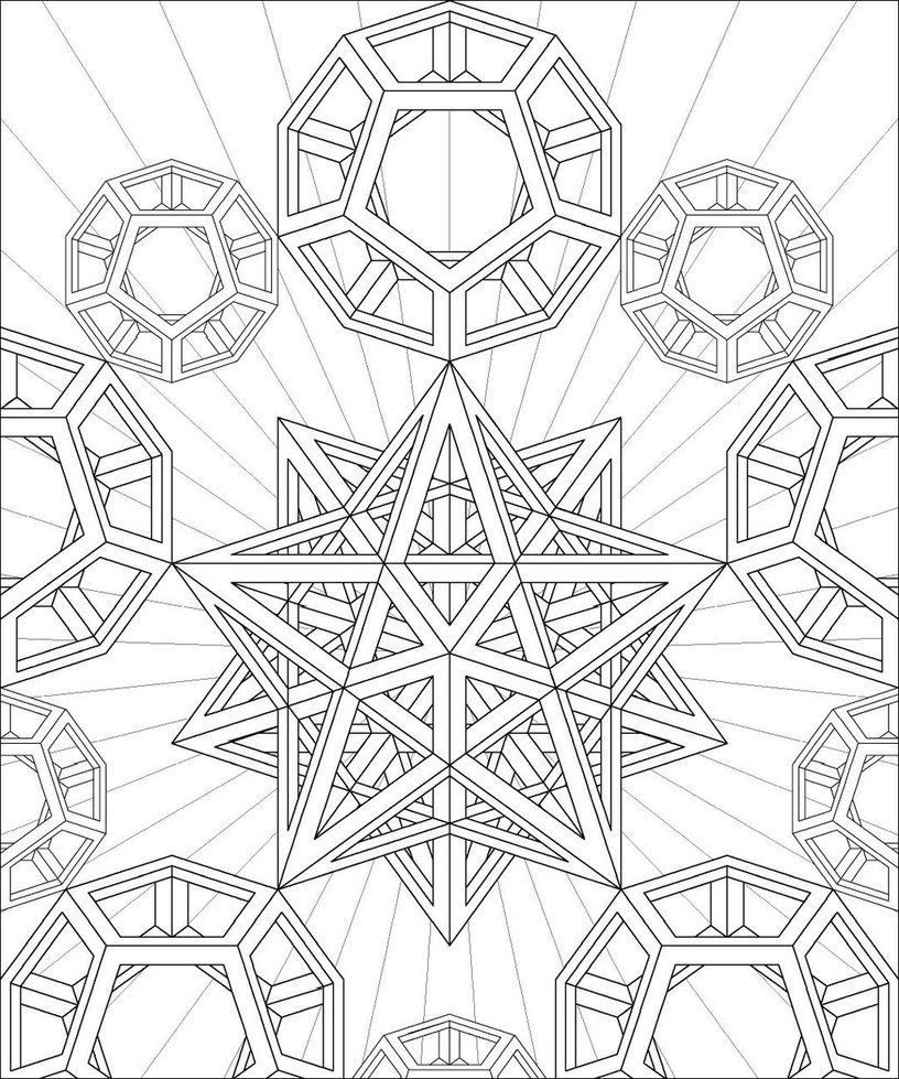 Sacred Geometry Coloring Page Adult Coloring Pages