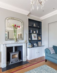 Features woodburner parquet floor fireplace residential design architecture interior photography architectural howard baker also living room renovation to  stylish victorian property in london rh pinterest