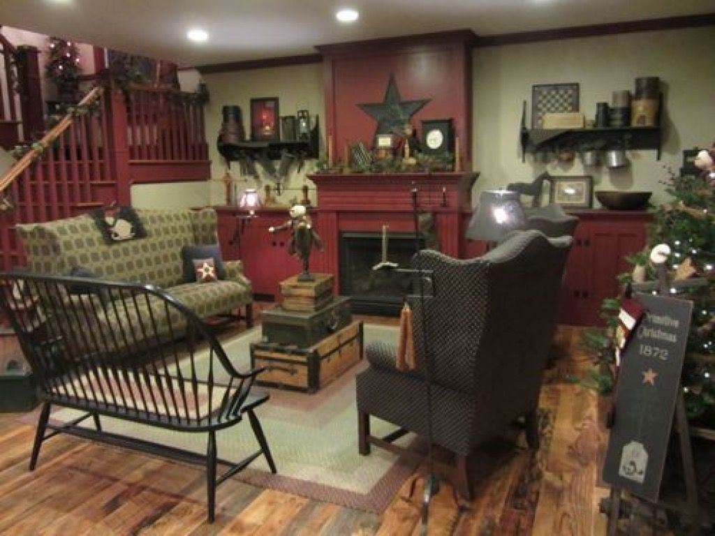 Fashionable Design Ideas 19 Primitive Living Room