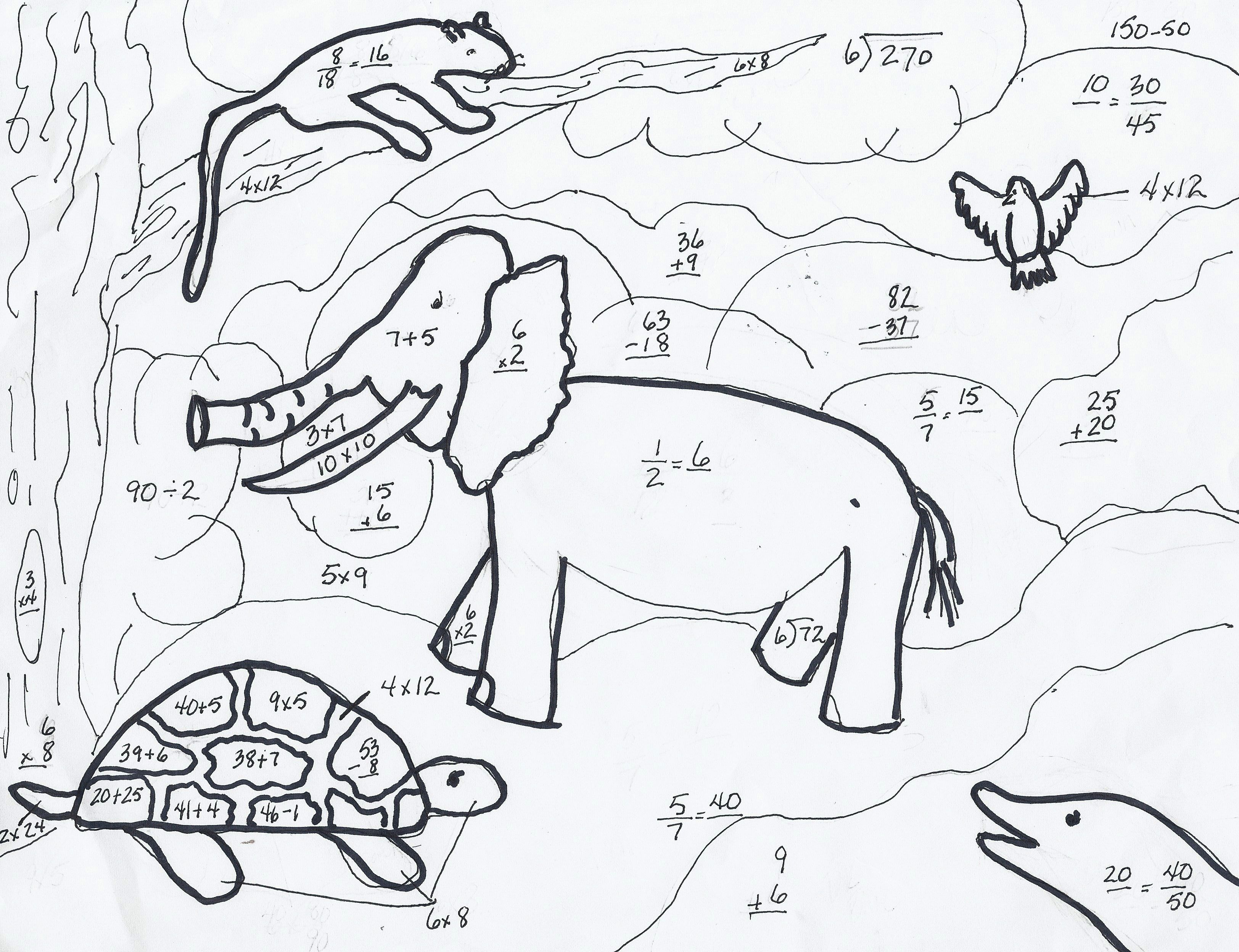 3 Times Tables Colouring Sheets