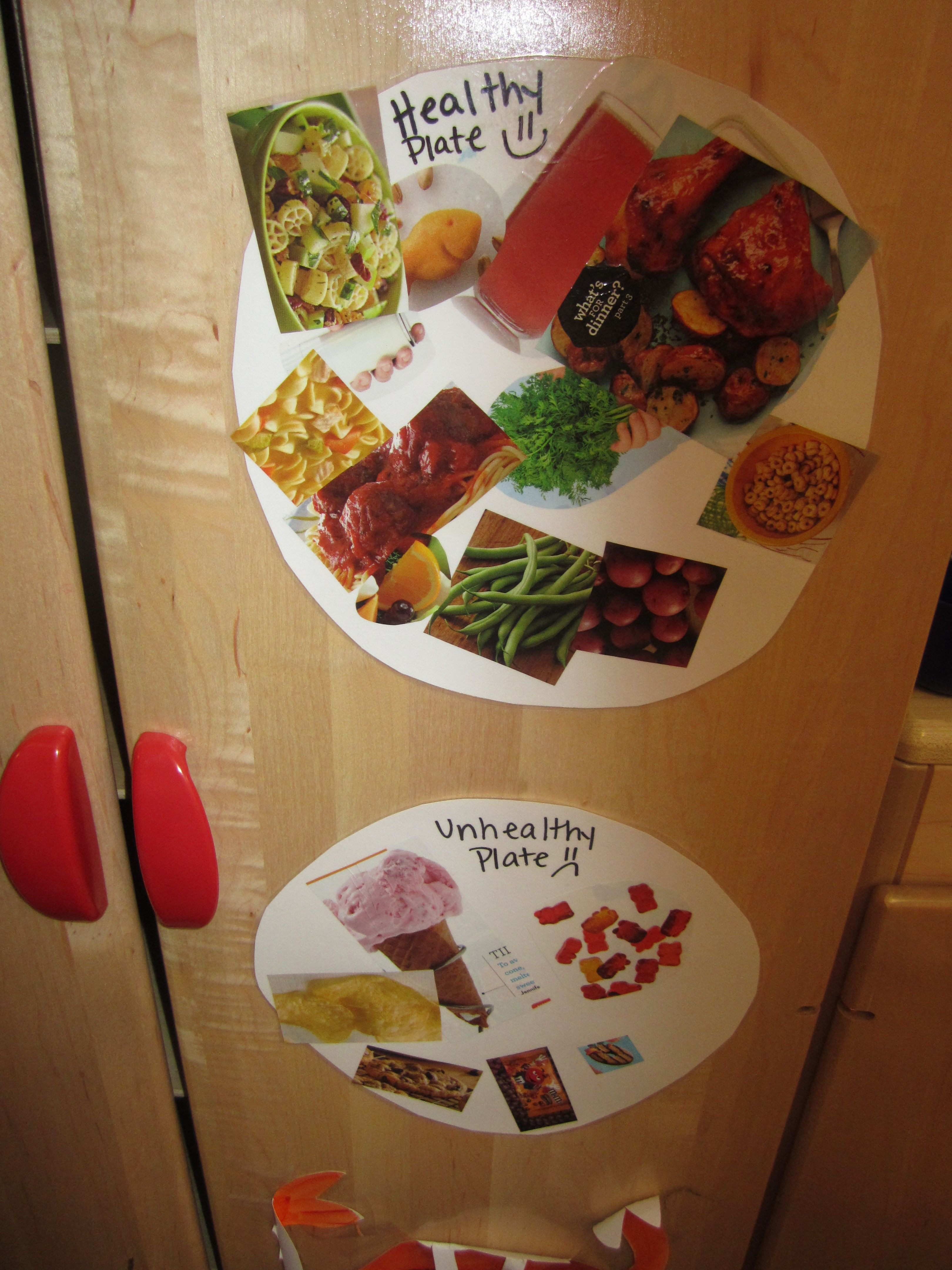 Healthy And Unhealthy Plate The Kids Cut Out Healthy And